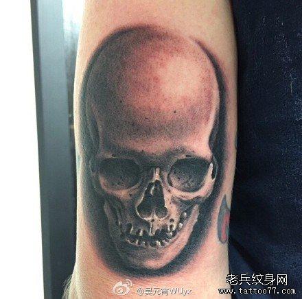 手部骷髅纹身图案