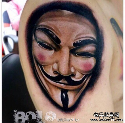 手臂笑面佛纹身分享展示
