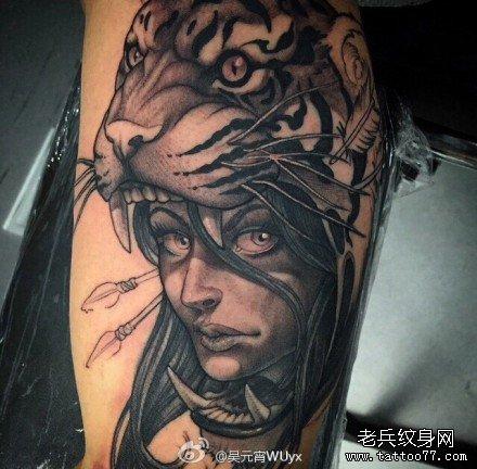 纹身图案大全图片女脚脖子