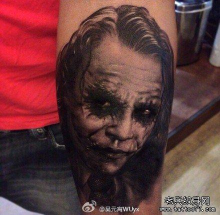 小丑章鱼纹身手稿图片
