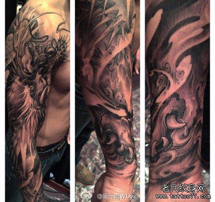 手臂霸之龙纹身图案