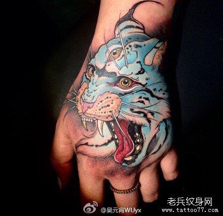 狼虎豹纹身图案大全