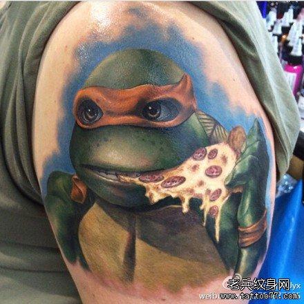 胳膊乌龟吃食物狂纹身图案