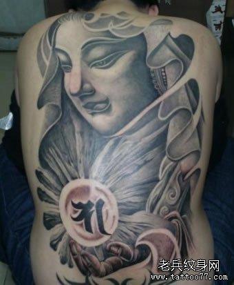 整背佛像纹身