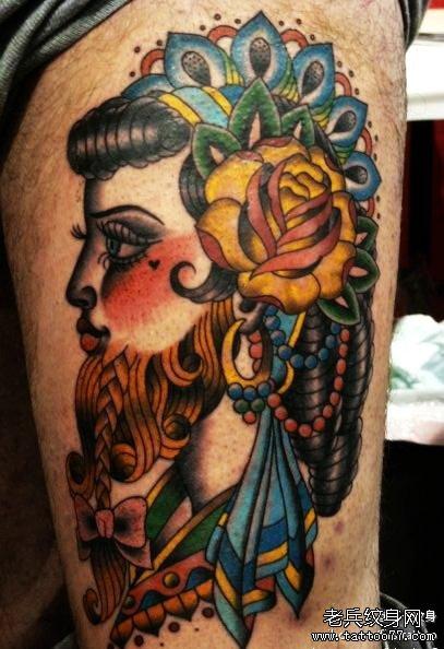 男人手臂海贼王纹身图_纹身图案