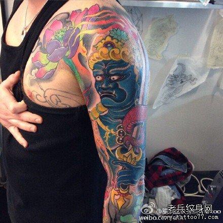 手臂不动明王纹身图案