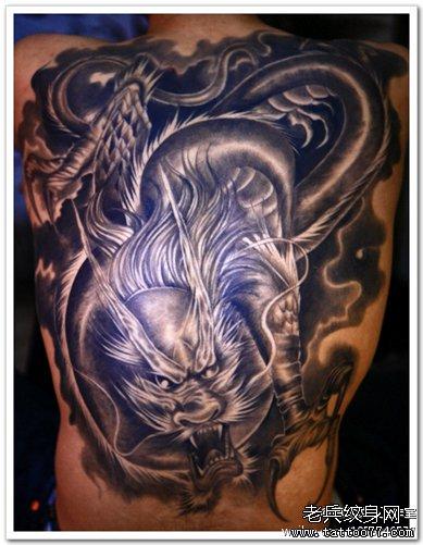 超酷帅气的满背二郎神纹身图案图片