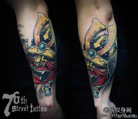 般若纹身图案大全:经典满背般若樱花纹身图案