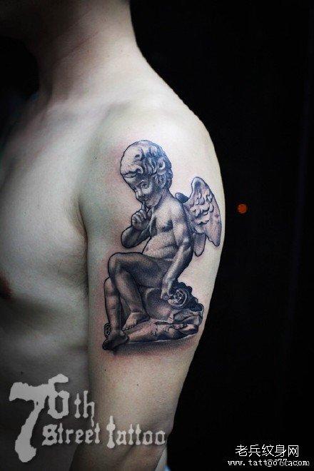 胳膊小天使纹身图案图片