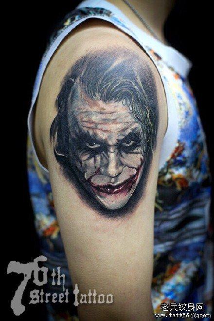 胳膊小丑纹身图案