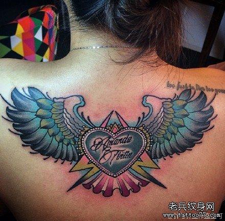 后背小女孩纹身图案