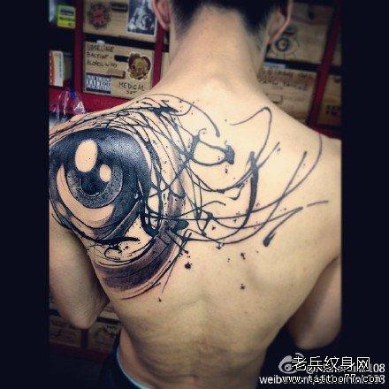 后背龙纹身图案