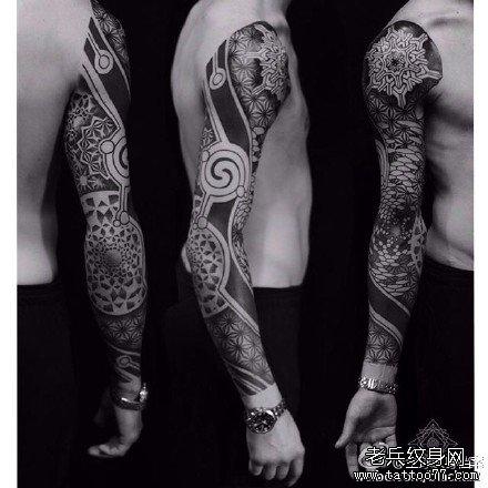 手臂花图腾纹身图案图片