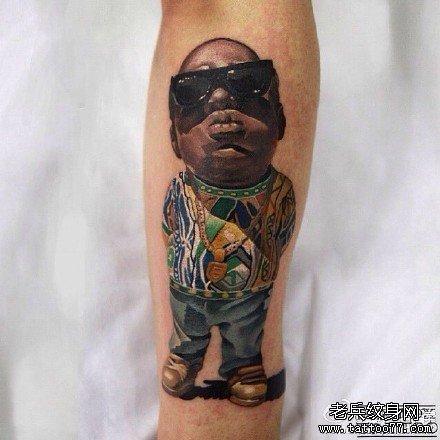 小孩黑人纹身图案