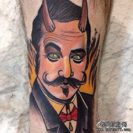 小恶魔简易纹身图案分享展示