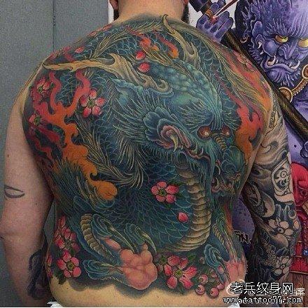 超经典麒麟纹身图案
