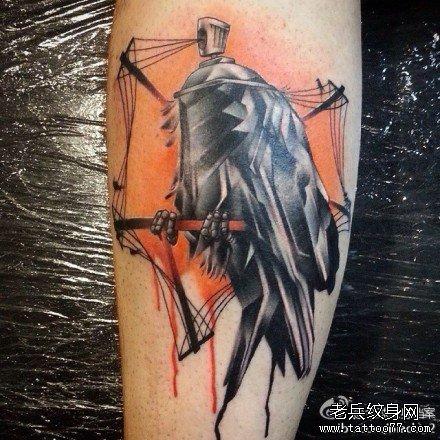 女生腿部唯美可爱的狐狸纹身图案