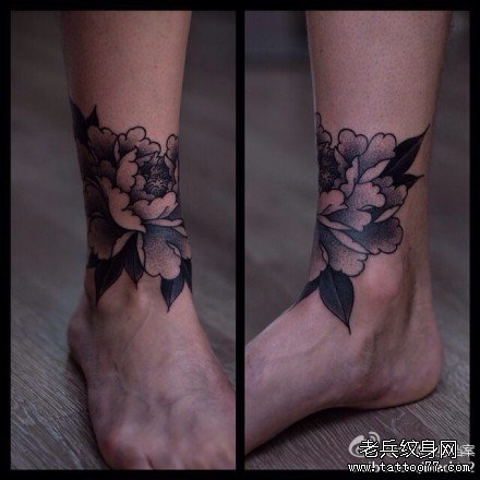 牡丹花纹身图案