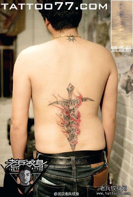 肩膀肖像刺青图案作品         小腿小丑刺青图案
