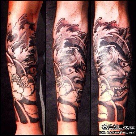 莲花般若花臂纹身手稿分享展示