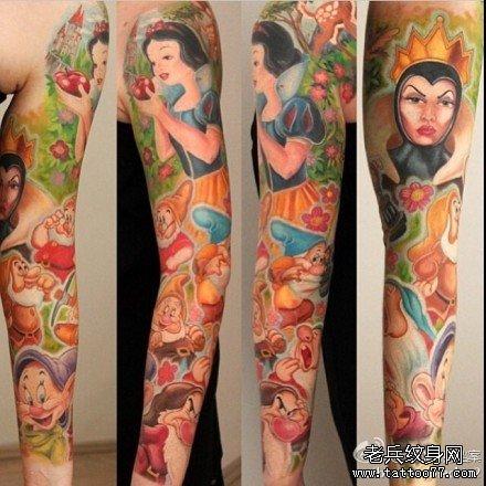 手臂白雪公主纹身图案图片