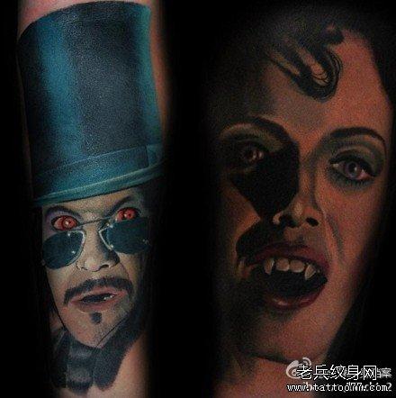 手臂吸血鬼纹身图案