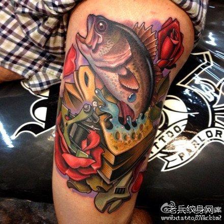 2016大吉大利的鱼纹身图案