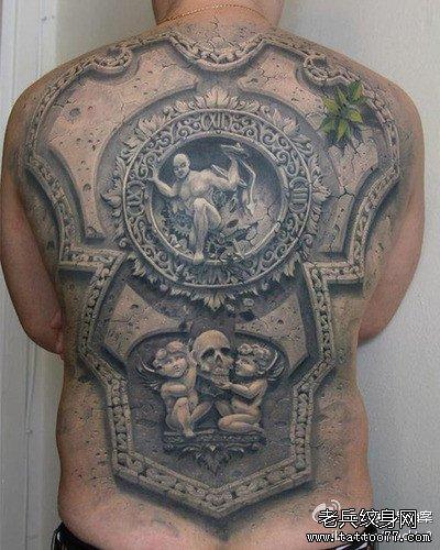 满背黄金嘎巴拉纹身图案