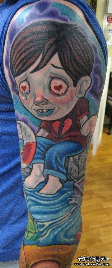 手臂星星卡通纹身图案