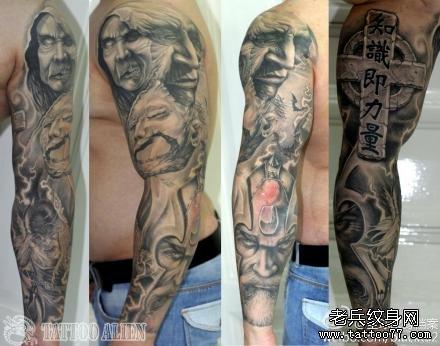 纹身花图案男小图手臂图片