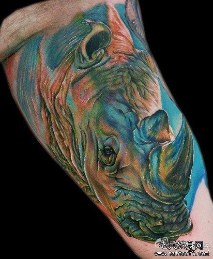 康之园 银杏树叶纹身图案 > 水彩梅花鹿纹身图案  水彩梅花鹿纹身图案