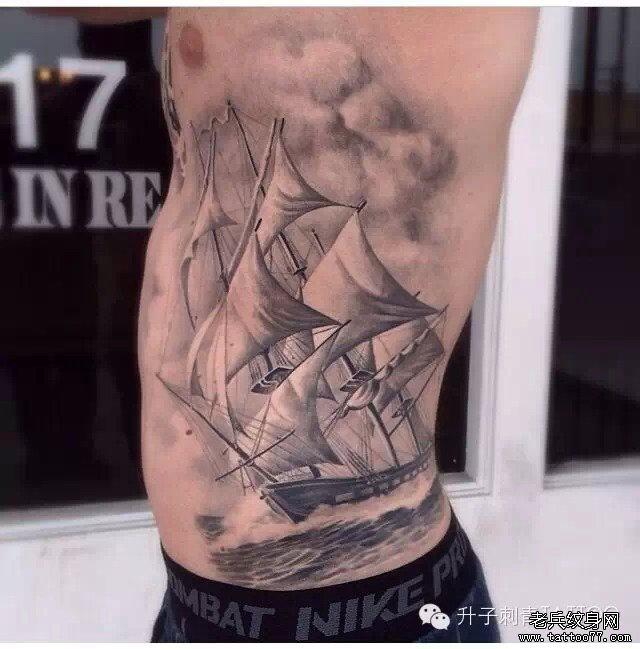 船的纹身图片