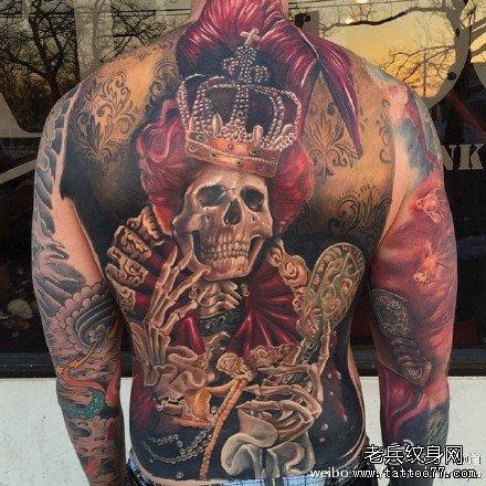 皇帝骷髅纹身图案