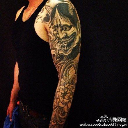 > 手臂纹身 > 大臂般若纹身