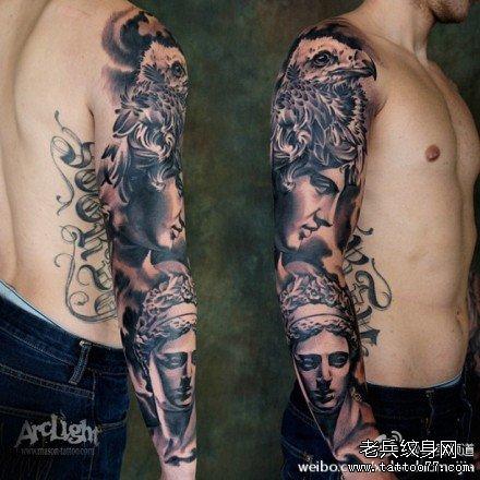 纹身图案大全图片男咒语