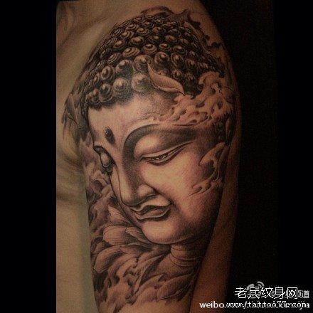 胳膊佛祖纹身图案图片