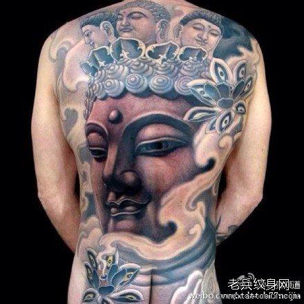 满背佛祖纹身图案