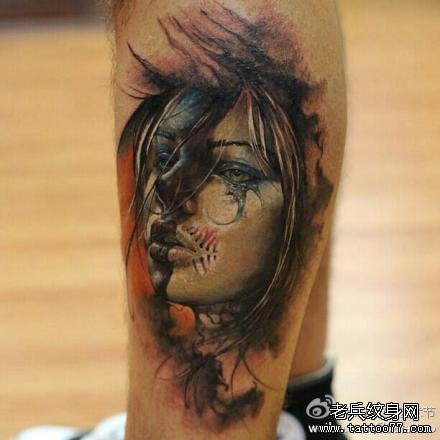 纹身图案大全图片女后脑勺