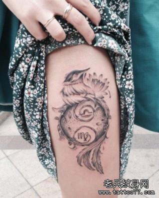 另外还有牡羊座的纹身,牡羊座的纹身图案表痛苦的抉择后的欲望