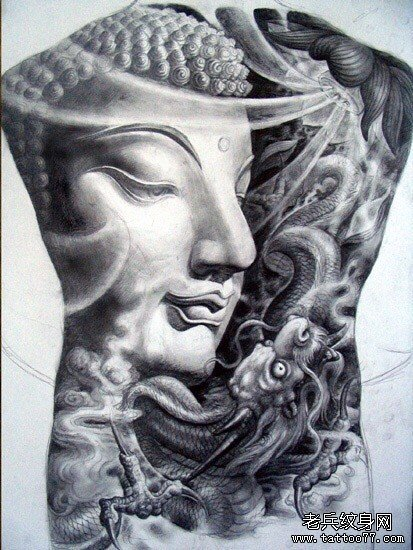 腿部独角兽大象纹身图案