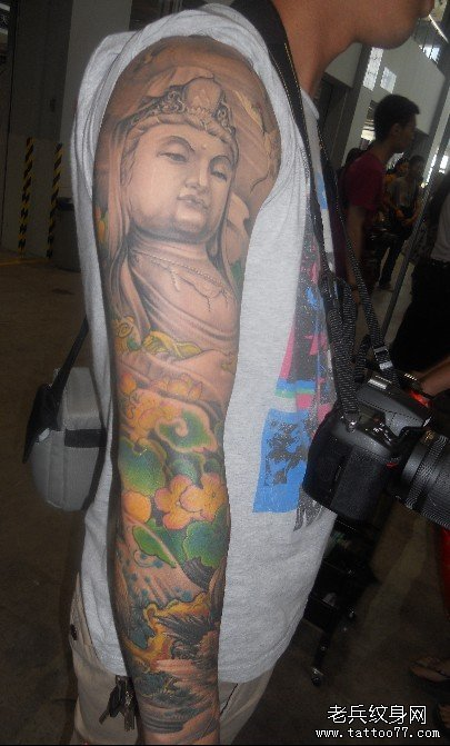 纹身主页 纹身图案大全 观音佛纹身图案大全