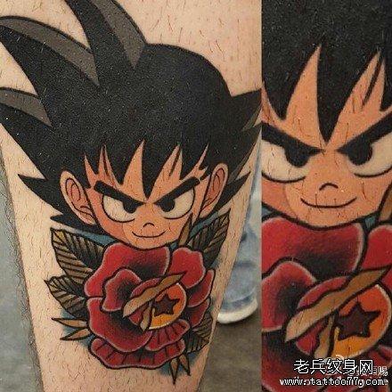 后背龙猫成长纹身图案
