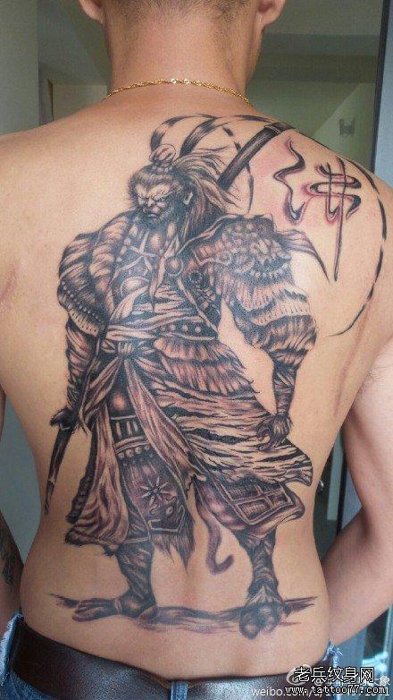 满背斗战佛纹身图案