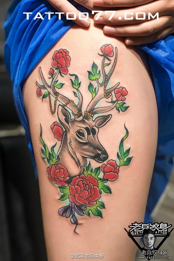 纹身图案大全          0 喜欢         浏览           大腿鹿图片