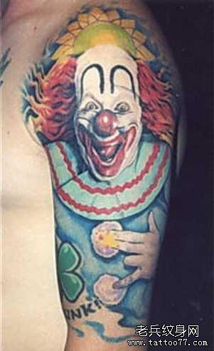 恶魔小丑纹身图案图片