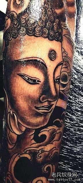 胳膊佛祖纹身图案_纹身图案