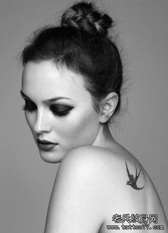 你中意的燕子纹身图案