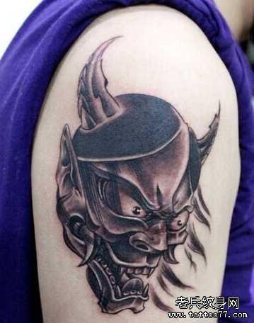手臂图腾般若纹身图案