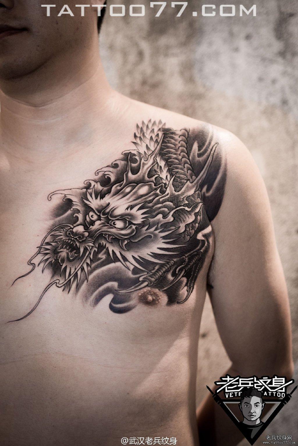 黑灰作品  武汉纹身店 纹身图案大全  0 喜欢   浏览  胸口龙头刺青
