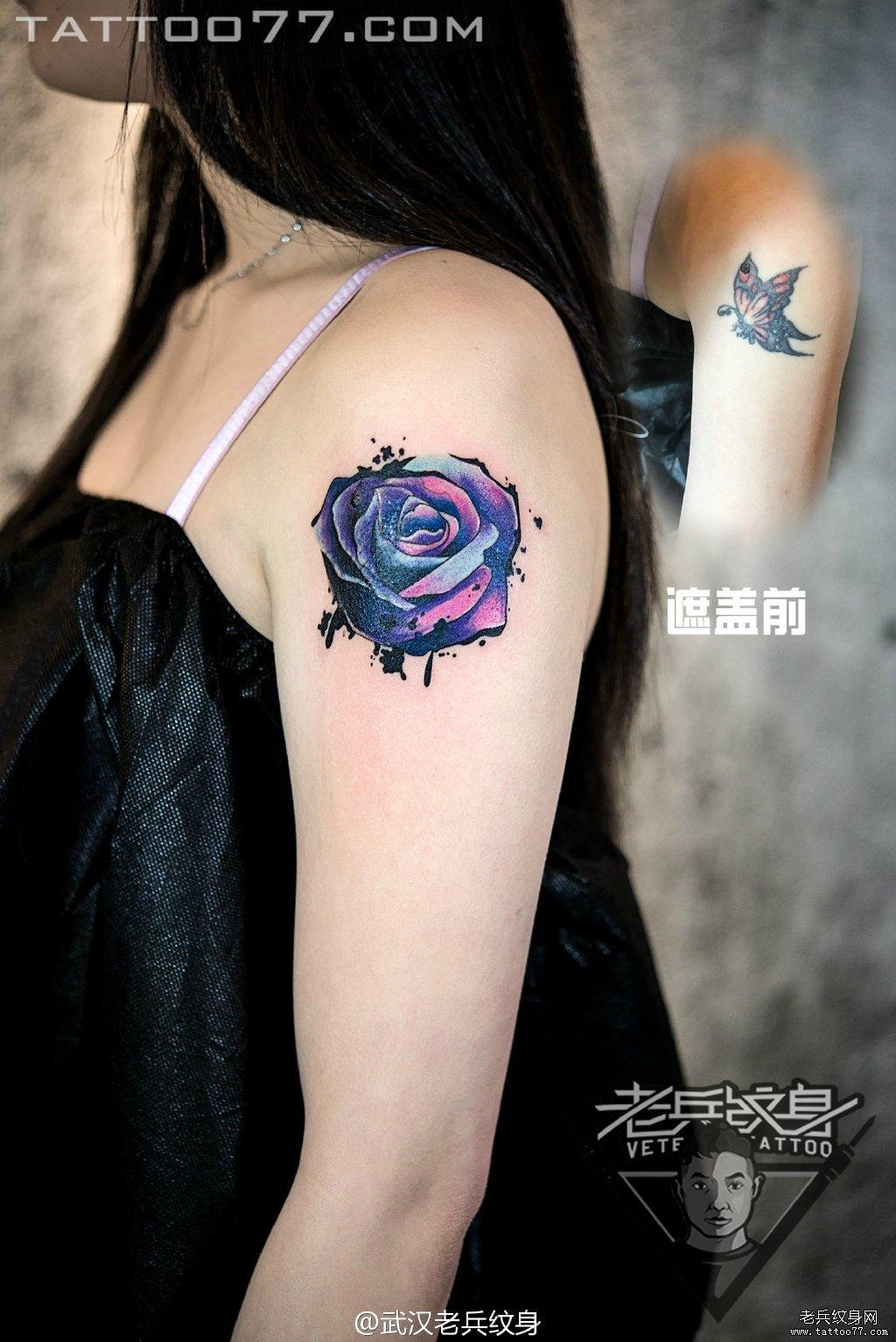 纹身图案大全          0 喜欢         浏览           手臂彩色玫瑰